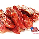 """Made to Order Fire-Grilled Oriental Bacon Jerky aka Singapore Bak Kwa (Original Flavor) 3/4 pound - """"2013 Handmade Gift"""" by Los Angeles Times"""