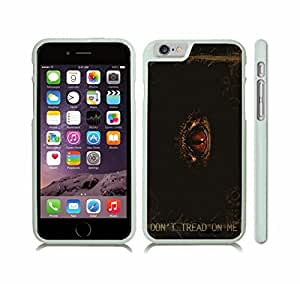 iStar Cases? iPhone 6 Case with Don't Tread on Me Snake Eye Design , Snap-on Cover, Hard Carrying Case (White)