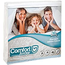 Comfort Armor Mattress Cover Full Size by Waterproof Mattress Protector - Protect your Mattress against Bedbugs, Dust Mites and Spills - Hypoallergenic and Breathable Vinyl Free Mattress Pad