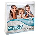full size futon pad - Mattress Cover Full Size by COMFORT ARMOR - Waterproof Mattress Protector - Protect your Mattress against Bedbugs, Dust Mites and Spills - Hypoallergenic and Breathable Vinyl Free Mattress Pad