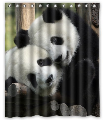 Standard Store Custom Funny And Sweet Pandas Shower Curtain 60