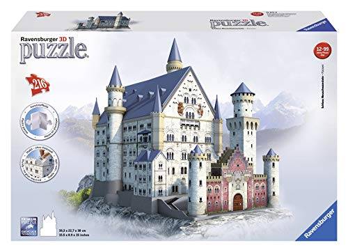 (Ravensburger Neuschwanstein 216 Piece 3D Jigsaw Puzzle for Kids and Adults - Easy Click Technology Means Pieces Fit Together)