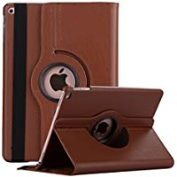 Robustrion Smart 360 Degree Rotating Stand Case Cover iPad 9.7 inch 2018/2017 5th 6th Generation - Brown