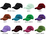mens caps and hats - Gelante Baseball Caps 100% Cotton Plain Blank Adjustable Size Wholesale LOT 12 Pack (Assorted #3)