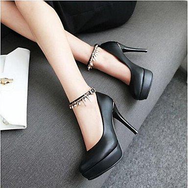 LvYuan Komfort 12 PU black Heels 10 cm Schwarz Rosa Damen Weiß ggx Komfort High Normal Frühling rO8FrXHqn