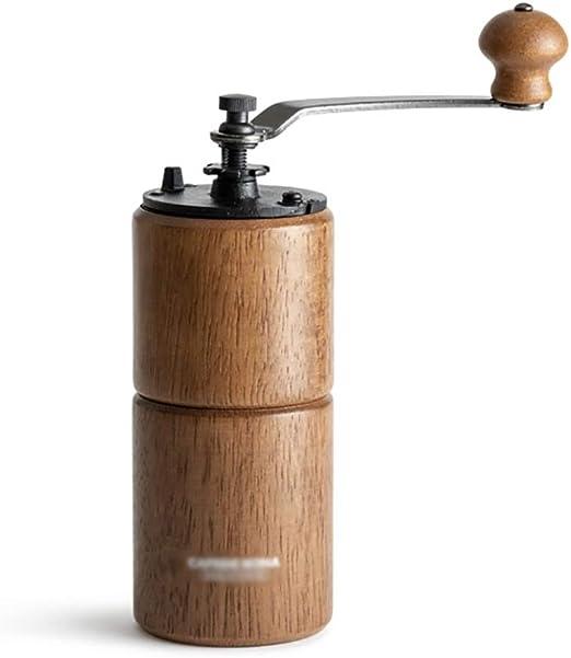Cafetera Molinillo de café de madera manual, metal gear espesor ...