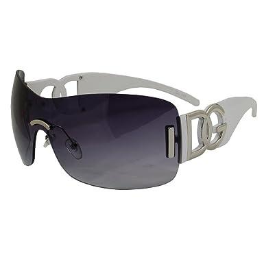 DG Eyewear - Lunette de soleil - Femme Blanc Blanc  Amazon.fr ... 462676182f51