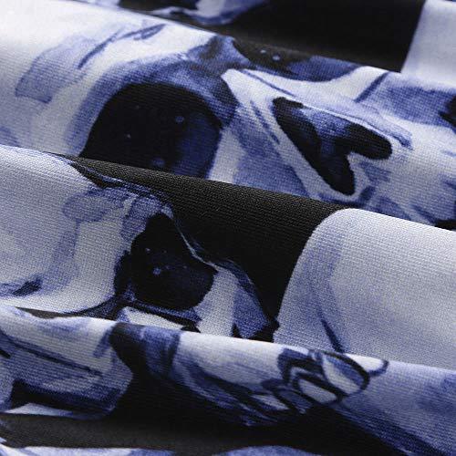 Maniche Design Donna Sexy Body Set V up Tie Corte Con Blu Donna A moda Lingerie Scollo Sleepwear Rpnzw1