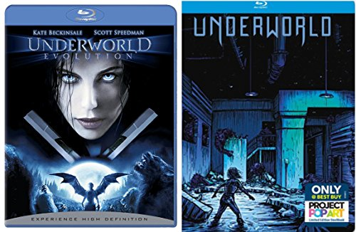 Underworld Exclusive Steelbook + Evolution Blu Ray - movie Set Kate Beckinsale Vampires & Lycans
