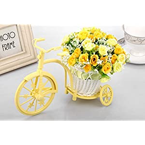 Louis Garden Nostalgic Bicycle Artificial Flower Decor Plant Stand (Orange) 3
