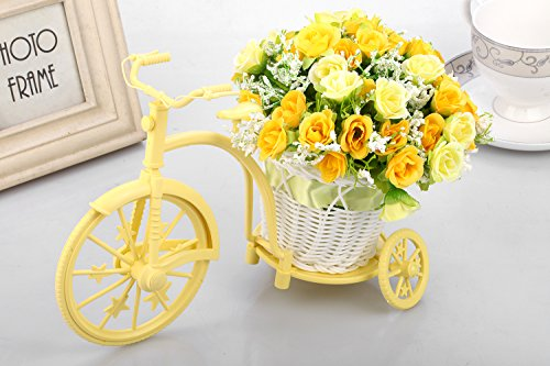 Louis-Garden-Nostalgic-Bicycle-Artificial-Flower-Decor-Plant-Stand-Orange