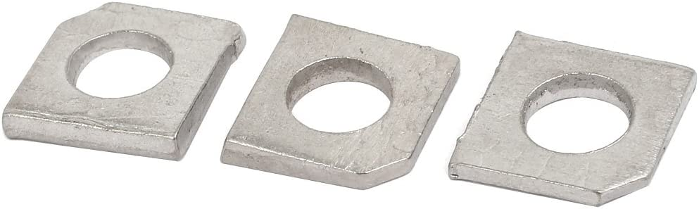 uxcell M8 Stainless Steel Industrial Square Locking Washer Silver Tone 3pcs