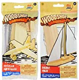 Build and Play Wooden Vehicle Kits, Pirate Ship, Fighter Plane, Racecar or Helicopter MAY Vary