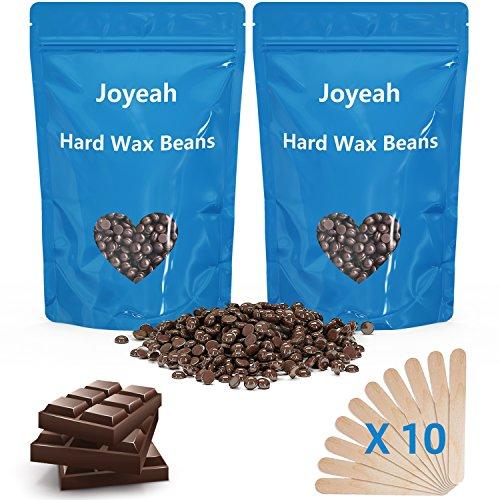 Hard Wax Beans, Joyeah 7 Oz Hair Removal Hard Wax Beads with 10 Wax Spatulas, Painless Waxing For Bikini, Facial, Arm, Legs