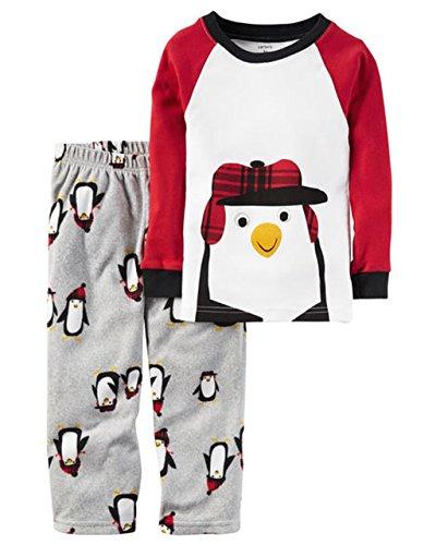 Carter's Boy's Size 4T Winter Penguin Cotton and Fleece Pajama Set