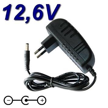 Adaptador Alimentación Cargador 12,6 V para cargador batería ...