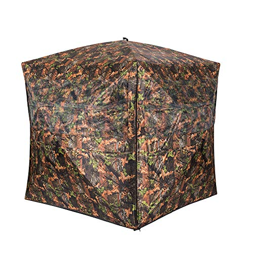 Vulture Pop-up Portable 4 Person Ground Hunting Blinds, 72 x 72 x 72 inches Camo Pattern Oxford Fabric