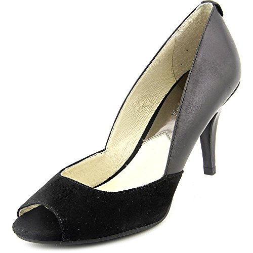 Michael Michael Kors Nathalie Open Toe Women US 6 Black Heels