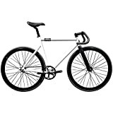 State Bicycle Black Label 6061 Aluminum Fixed Gear Bike, 57cm/Large, Pearl White