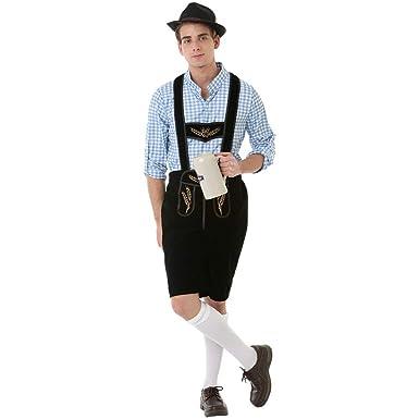7266c8acbb7 Oktoberfest Lederhosen Adult Mens Halloween Dress Up Theme Party Cosplay  Costume