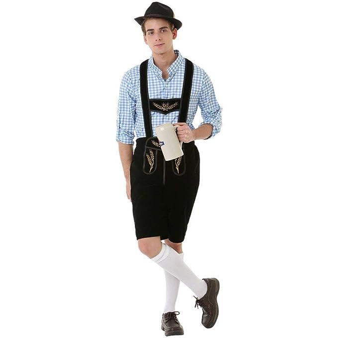 Amazon.com: Disfraz para hombre de Oktoberfest Lederhosen ...