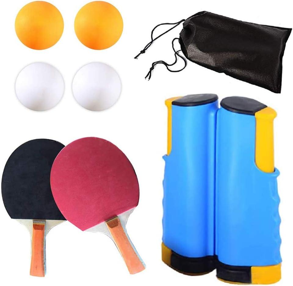 Juego De Raquetas De Pelota De Ping-Pong Apertura/Cierre De Tenis De Mesa Tipo De Red De Expansión/Contracción Red Compacta De Ping-Pong Accesorios De Tenis De Mesa