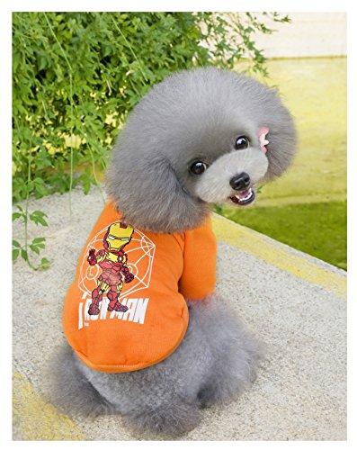 Dog Hoodies,Rdc Pet Clothes,Fleece Basic Hoodie Warm Sweater,Spiderman Batman IronMan Captain America Cotton Jacket Sweat shirt Coat for Small Dog Cat (XL, Iron ()