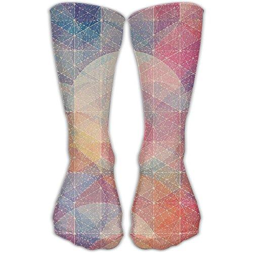 Graphic Pattern Women & Men Socks Soccer Sport Tube Stockings Length 30cm
