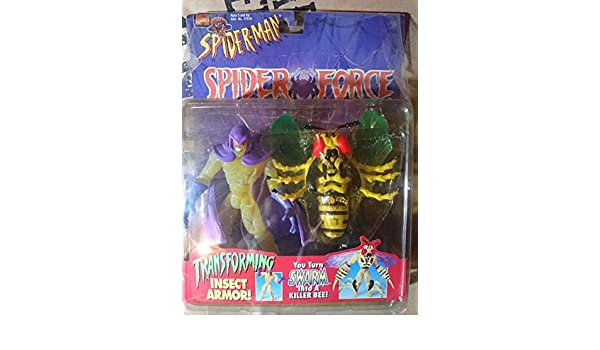 Spider-Man Spider Force Swarm with Transforming Insect Armor ...
