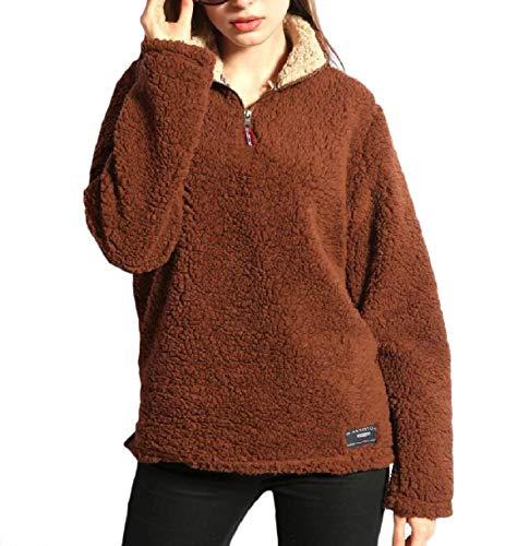 Giacca Inverno Coffee Trench Plush Jacket Donna Solid Autunno Shirt Pullover Somoll Warm Da 0nwqaZF7d