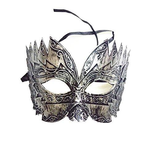 Patty Both Mens Masquerade Mask Greek Roman Party Mask Mardi Gras Halloween Mask (Silver) ()