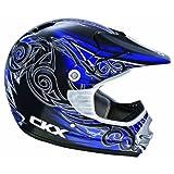 CKX 101726 TX-218 Whip Adult Full Moto Helmet, Black/Blue/White, XX-Large
