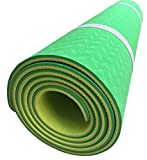Yoga Mat double 6mm layer with Nylon/Mesh bag Green Review