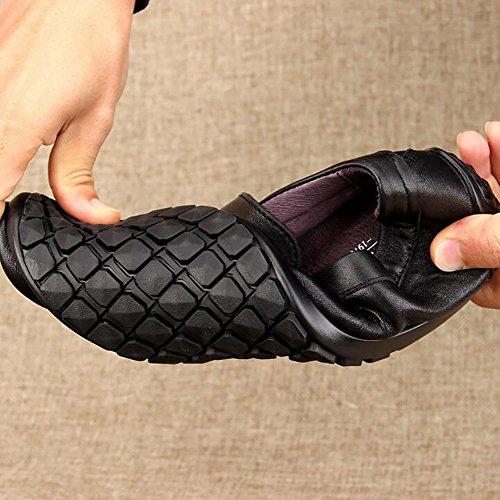 Guida Trend Uomo Scarpe Scarpe 43 Giovanile Scarpe Uomo Black Scarpe Pelle Calzature Uomo Casual Uomo Scarpe Piselli vqzw7f