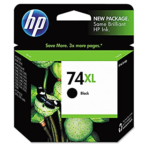 Hewlett-Packard HP 74XL Inkjet Cartridge, 750 Page Yield, Black (74xl Hp Ink)
