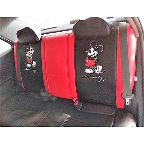 Mickey Mouse Seat Cover, Rear,: Premium PVC Edition Red