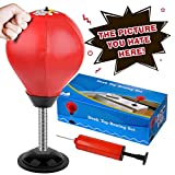 Cyrus Desktop Punching Bag Stress Buster Ball Stress Relief Toys with Pump for Office Home Kids Adults (Red)