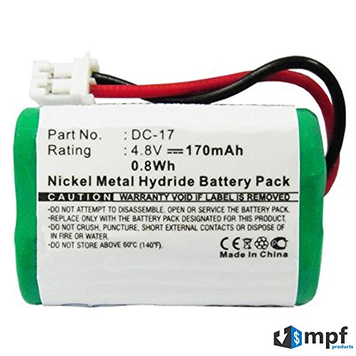 170mAh DC-17 Kinetic MH120AAAL4GC 650-058 Battery for SportDOG FR-200, FR-200A, SD-400, SD-400S, SD-800, Field Trainer 400, 400S, 800, Sporthunter 400, 800, Wetlandhunter 400, 800 Dog Collar Receiver