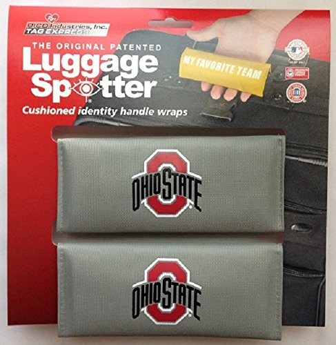 Luggage Spotter OHIO STATE BUCKEYES Luggage Locator/Handle Grip/Luggage Grip/Travel Bag Tag/Luggage Handle Wrap (2 PACK) – CLOSEOUT! LICENSE EXPIRING! SELLING FAST! by Luggage Spotter
