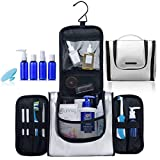 TSA Approved Hanging Toiletry Bag for Women with Leak Proof TSA Travel Bottles and Silicone Cleaning...