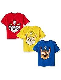Nickelodeon- Playera de Paw Patrol, para niños, paquete de 3