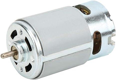 DC 12-24V 22000 rpm Mini motor el/éctrico sin n/úcleo para taladro el/éctrico y destornillador el/éctrico Micro motor RS-550