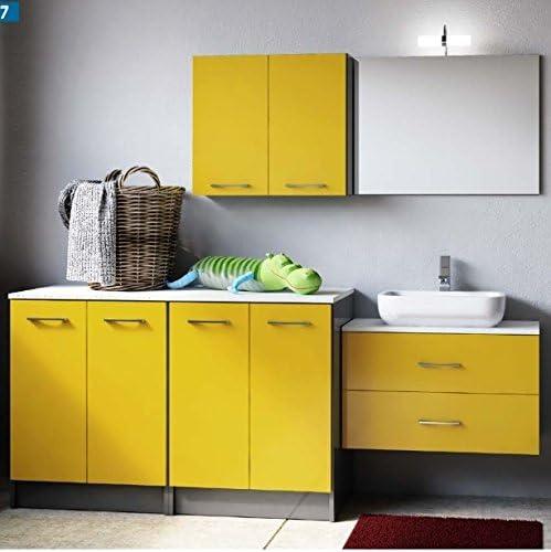 Mueble decorativo de baño, con armario protector de lavadora y ...