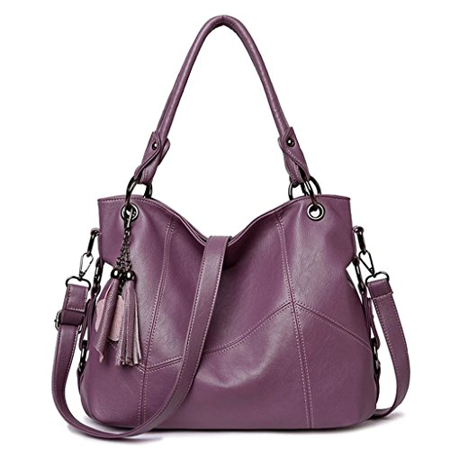 Work para de Color Bolso grande Purple Bolso Bolso Red borla Red Travel Black Bolso Blue simple color decorativo hombro mujer Purple viajero de de Out mensajero el de sólido HFFAdax