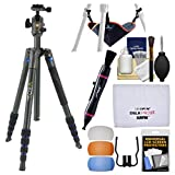 Vanguard VEO 2 235AB 57'' Aluminum Tripod with BH-50 Ball Head & Case (Blue) with Stone Bag + Flash Diffusers + Cleaning Kit