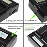 D&F Dual LCD Display Battery Charger for Sony