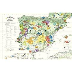 Wine Map of The Iberian Peninsula (Spain and Portugal) Steve De Long and Mark De Long