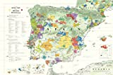 Wine Map of The Iberian Peninsula (Spain and Portugal)