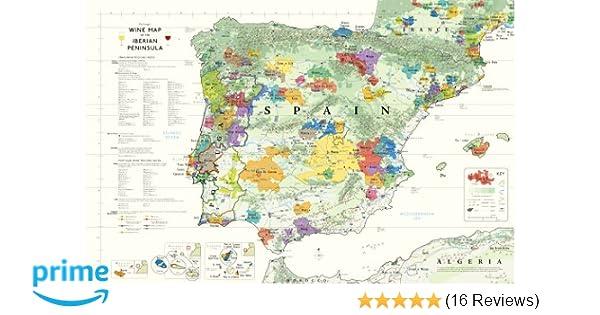 Spanish Map Of Spain.Wine Map Of Spain And Portugal Steve De Long Mark De Long