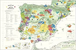 Wine Map Of The Iberian Peninsula Spain And Portugal Steve De - Portugal map